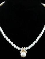 Fashion Boutique Sweet Pearl Pendant Short Necklace