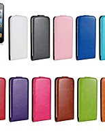 Horse Grain Open Up and Down PU Leather Full Body Cover for iPhone6 (Assorted Color)
