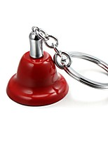 Christmas Jingle Bell Zinc Alloy Keychain