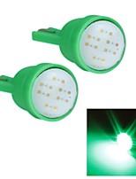 Merdia t10 1,5 W COB 300lm 6SMD führte markieren grünes Licht für Auto-Instrumentenbeleuchtung / Kennzeichenbeleuchtung