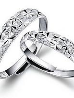 Women's Silver Babysbreath Sweet Heart Rings(A pair of selling)