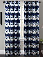 Jeden panel Okno Leczenie Designerskie , Krzywa Salon Poliester Materiał zasłony zasłony Dekoracja domowa For Okno