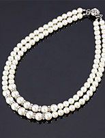 U7®High Quality Synthetic Pearl Beads Luxury Fancy Choker Collar Necklace  Austrian Rhinestone Jewelry for Women