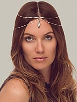 Miss ROSE®Fashion Set Auger Pendant Double Chain Golden Headband