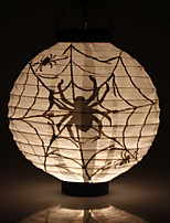 White Spiders Pattern Lantern Holloween Decoration(Bulb Excluded)