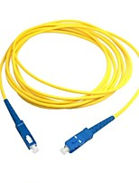 10m 30ft SC to SC Fiber Patch Cord Jumper Cable SM Simplex Single Mode Optic for Network Free Shipping