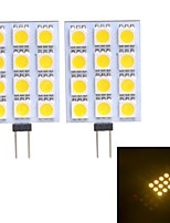 Lampes à Deux broches Blanc Chaud/Blanc Froid G4 W 12 SMD 5050 120~130 LM DC 12 V
