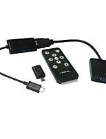 mhl micro usb di hdmi vga adattatore HDTV con telecomando tablet samsung galaxy s2 s3 s4 scheda 3