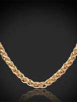 U7®Cool Twisted Link Chain Necklace 18K Chunky Gold Plated Jewelry Gift for Women