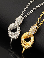 U7®Hot Sale Snake Charm Pendant Necklace 18K Real Gold Platinum Plated Rhinestone Crystal Jewelry Gift for Women