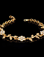 U7®Cute Women's Trendy Fashion Jewelry 18K Real Gold Platinum Plated Bracelet Bangle Rhinestone Crystal for Women