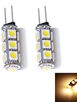 G4 W 13 SMD 5050 130~150 LM Warm White/Cool White Bi-pin Lights DC 12 V