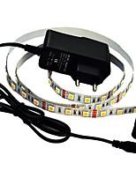 JIAWEN® 1M 5W 60x5050SMD 3000-3200K Warm White/White LED Flexible Strip Light + 1A Power (AC 110-240V)