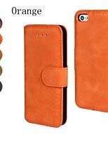 couro pu matagal cobrindo todo o corpo com slot para cartão de suporte e para iPhone 4 / 4S (cores sortidas)