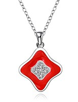 Cremation Jewelry 925 sterling silver Geometry with Zircon Pendant Necklace for Women