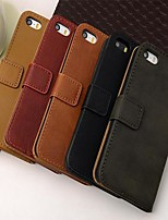 Wallet Style PU Leather Full Body Case with Stand and Card Slot for iPhone 5/5S