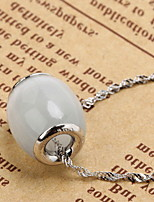 Women's Fashion Sterling opal Pendent Water Wave Necklace
