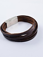 Fashion Men's Multi-turn PU Leather Bracelets