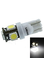 T10(149 168 W5W) 2.5W 5X5060SMD 160-190LM 6500-7500K White Light for Car Parking Lamp(DC12-16V)