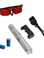 LT-0888 Eye-Protect Blue Laser Pointer (4MW, 450nm, 2x16340, Assorted Colors)
