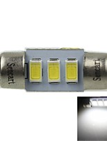 31MM(SV8.5-8) 1.5W 3X5730SMD 90-120LM 9000-10500K Cool White Light LED Bulb for Car License plate Lamp(AC12-16V)
