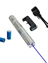 LT-0887 Eye-Protect Blue Laser Pointer (5MW, 450nm, 2x16340, Assorted Colors)
