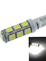 T10(149 168 W5W) 6.5W 13x5060SMD 480-560LM 6500-7500K White Light for Car Light Parking Lamp(DC12-16V)