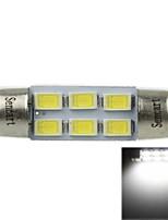 36 millimetri (sv8.5-8) 3w 6x5730smd 180-220lm 6000-6500k luce bianca ha condotto la lampadina per lampada di lettura auto (ac12-16v)