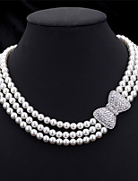 U7®High Quality Synthetic Pearl Beads Luxury Women's Fancy Choker Collar Necklace Jewellery Gift for Women