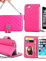 Long Chain Handbag Rose Leather Full Body Case with Card Slot  Wallet and Stand Skin for 4.7 iPhone 6(Assorted Colors)