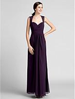 Floor-length Chiffon Bridesmaid Dress Plus Sizes Sheath/Column Sweetheart