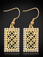 U7®New Vintage Luxury Women's Drop Dangle Earrings 18K Gold Plated Austrian Rhinestone Crystal Jewelry Gift for Women