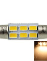 36mm (sv8.5-8) 3w 6x5730smd 180-220lm 3000-3500K warm wit licht led lamp voor auto leeslamp (ac12-16v)