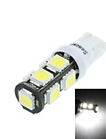 T10(149 168 W5W)4.5W 9X5060SMD 280-360LM 6500-7500K White Light for Car Reading Lamp(DC12-16V)