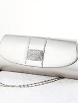 Handbag Crystal/ Rhinestone/Faux Leather Evening Handbags/Bridal Purse With Crystal/ Rhinestone
