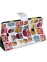 Wallet Style Cartoon Owl PU Leather Full Body Case with Stand and Card Slot for Nokia Lumia 625