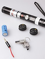LT-S004 Focus Adjustable Focusable Burning Paper Cutting Purple Laser Pointer(5mw,405nm,1 x 18650,Black)
