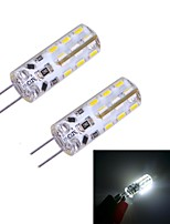G4 W 24 SMD 3014 100~120 LM Warm White/Cool White Bi-pin Lights DC 12 V