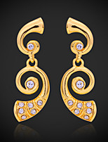 U7®New Luxury Women's Drop Dangle Earrings Set 18K Gold Plated Austrian Rhinestone Jewelry Gift for Women