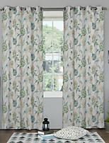 Jeden panel Okno Leczenie Designerskie , Kwiaty Salon Poliester Materiał zasłony zasłony Dekoracja domowa For Okno