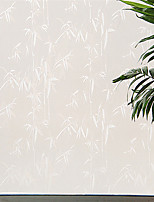 Graceful Country Whitw Bamboo Leaves Window Film - 0.5 × 5 m (1.64 × 16.4 ft)