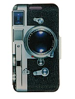 Camera Pattern PU Leather Full Body Cover with Stand for Nokia Lumia 625