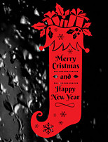 Merry Christmas Artistic Christmas Sock Window Sticker - 39.4