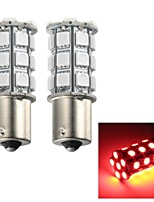 Merdia 5W 115LM 1156 27x5050SMD LED Red Light Flashing Light / Brake Light / Fog Light(2 PCS/12V)