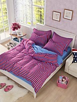 Blue/Purple Polyester King Duvet Cover Sets