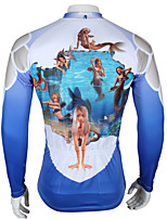 Fulang  Cycling Jerseys  Breathe Freely  Wear Resiting   Ultraviolet Resistant   Fashion   Mermaid Pattern SC340