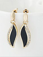 Vintage/Cute/Party Gold Plated/Alloy/Rhinestone Drop Earrings