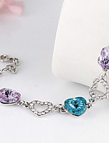 Vintage/Cute/Party Silver Plated/Alloy/Cubic Zirconia Link/Chain Bracelet