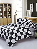 Black/White Polyester King Duvet Cover Sets