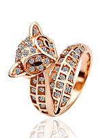 Anéis Zircônia Cubica Liga/Pedaço de Platina/Pedaço de Ouro Rose Liga/Pedaço de Platina/Pedaço de Ouro Rose Mulheres